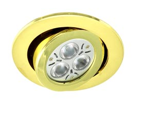 Round recessed LED plug in cabinet light