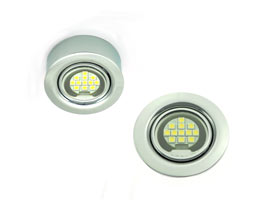 Round Recessed or Surface Mounted LED Puck light kit