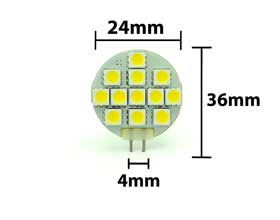 3 Watt G4 Led Bulb 12 Led Led Depot Inc